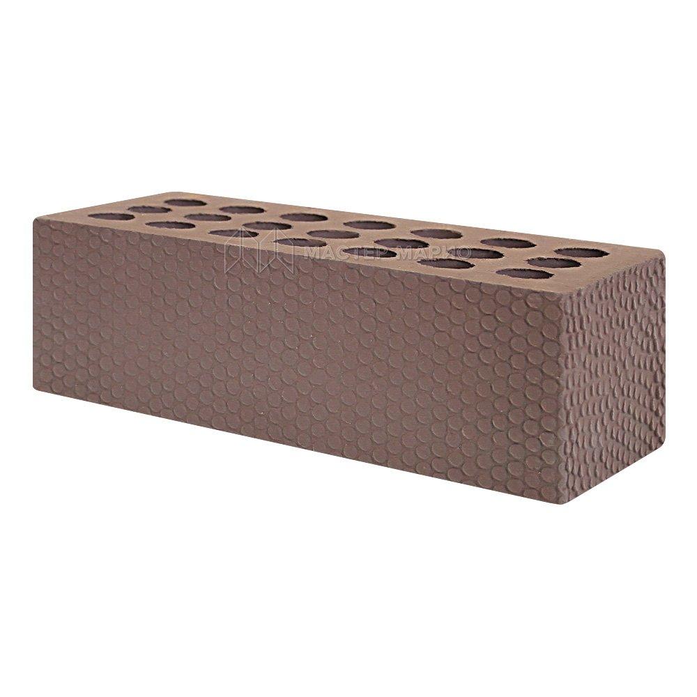 Кирпич лицевой керамический «Шоколад» «Мелкий Галечник» пустотелый утолщенный
