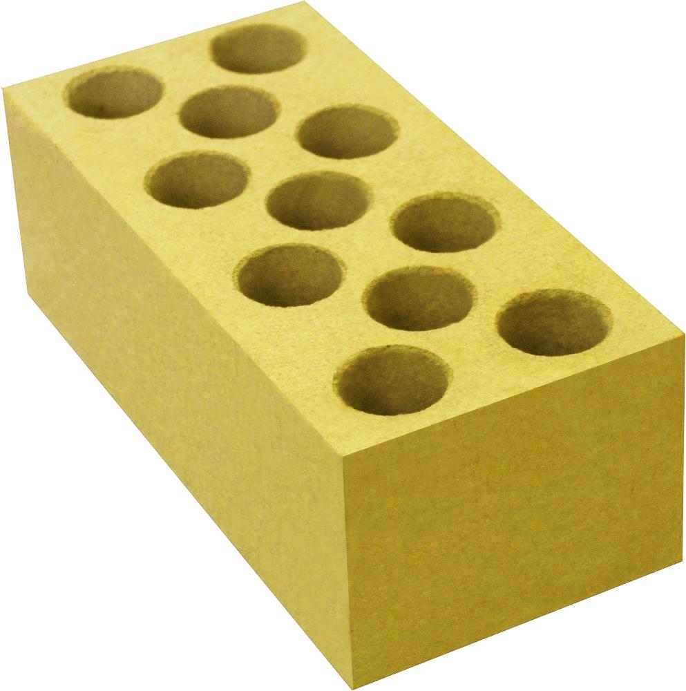 Кирпич лицевой силикатный Желтый пустотелый утолщенный