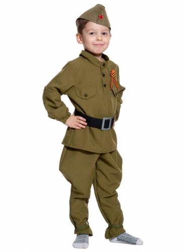 Карнавальный костюм Солдатик (без сапог), 9-10 лет