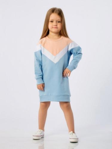 Платье для девочки голубое, размер 2-3 (рост 98-104) Bodo