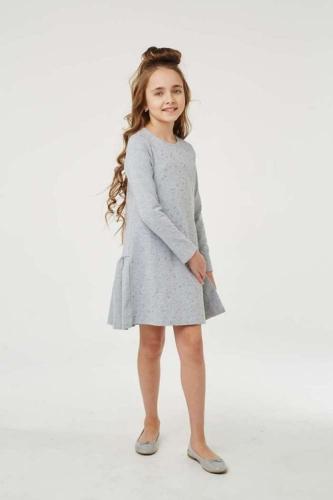 Платье для девочки размер 122, Звезды Серый меланж, УМКА