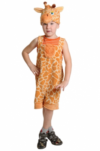 Карнавальный костюм Жирафчик ткань-плюш (полукомбинезон, маска) 3-6 лет
