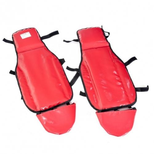 Ледянки наколенники Метиз цвет красный