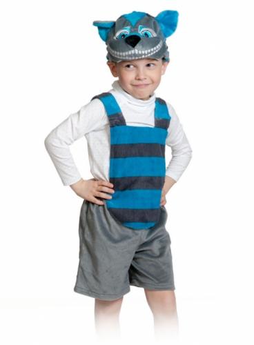 Карнавальный костюм Кот Чешир ткань-плюш (полукомбинезон, маска) 3-6 лет