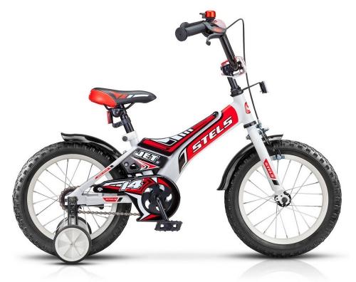 Велосипед Stels Jet, белый/красный, рама 14