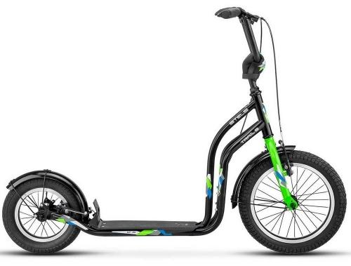 Самокат Stels Trail-5 2018 V010, черно-зеленый