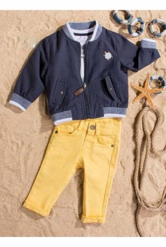 Костюм для мальчика, размер 18 месяцев, темно-синий/желтый, Bebus