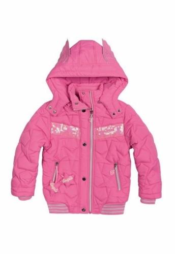 Куртка для девочек, размер 10, демисезонная, розовая Pelican GZWL484