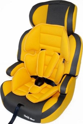 Автокресло Teddy Bear LB 515 RF 1/2/3 23 yellow/black dot с вкладышем