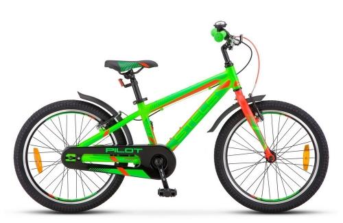 Велосипед Stels Pilot-250 Gent, неоновый зеленый/неоновый красный, рама 20