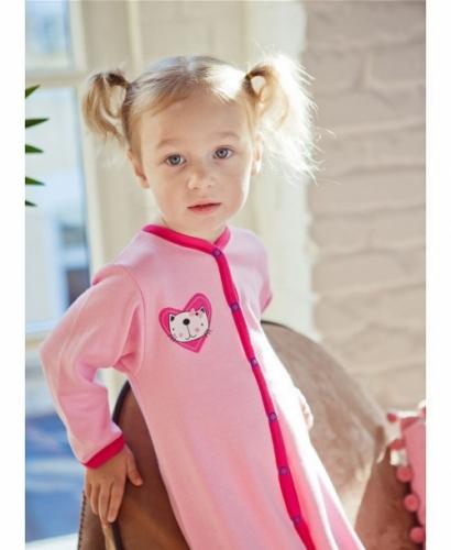 Комбинезон Lucky Child LOVE (арт. А6-103/розовый),размер 24 (74-80)