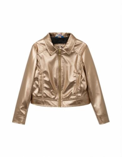 Куртка-косуха для девочки, размер 8 (128-64) демисезонная, бронза Bellbimbo 191227