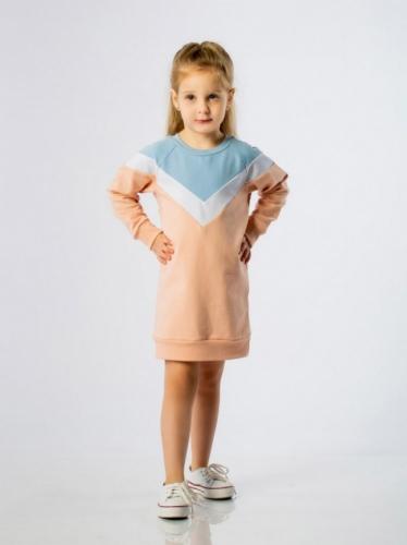 Платье для девочки персиковое, размер 2 ( рост 92-98) Bodo