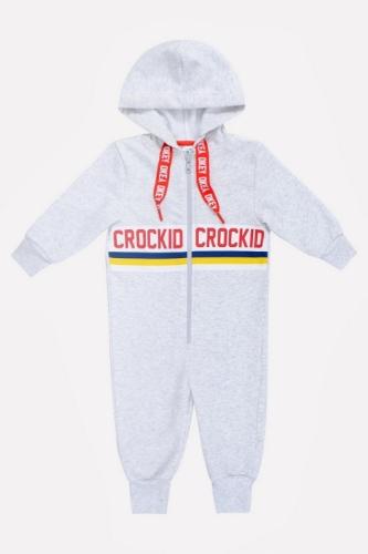 Комбинезон Сrockid светло-серый меланж, размер 128