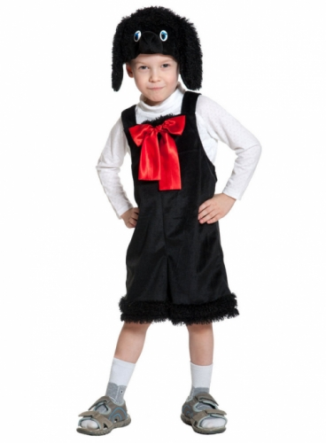 Карнавальный костюм Пудель ткань-плюш (полукомбинезон, маска) 3-6 лет