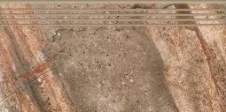Ступени Kerranova Genesis структурированный коричневый29.4x60