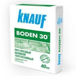 Наливной пол Knauf Боден-30 гипсовый толстослойный 40 кг