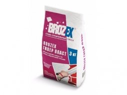 Штукатурка Brozex Гипер Пласт гипсовая для ручного нанесения 3 кг