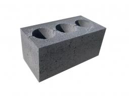 Стеновой блок 390х190х188 с 3-мя круглыми отверстиями М-75