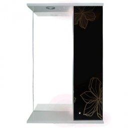 Шкаф-зеркало Iris Панда 550/с 3D Черные цветы