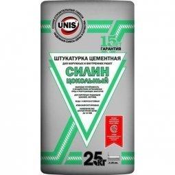 Штукатурка Unis Силин цементная цокольная 25 кг