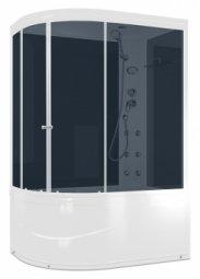 Душевая кабина Domani Spa Light 128R 120x85 черные стенки