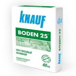 Наливной пол Knauf Боден-25 гипсовый 40 кг