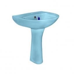 Раковина Santeri Виктория с пьедесталом Воротынский 56х45х84 голубая