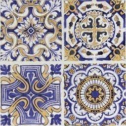 Вставка Сокол Майолика D708 орнамент матовая 33х33