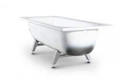 Ванна ВИЗ Antika А20001 стальная рант с опорной подставкой 120x70x40