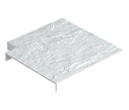 Угловая накладка для бордюра Docke Белый
