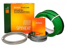 Теплый пол на основе двухжильного экранированного кабеля SpyHeat SHD-15-450
