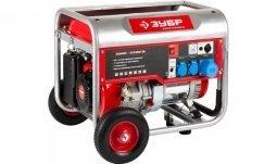 Генератор бензиновый ЗУБР ЗЭСБ-5500 5000/5500 Вт ручной запуск