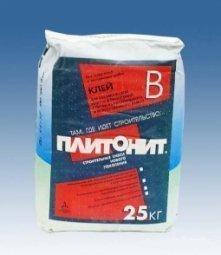Клей для плитки Plitonit В для внутренних/наружных работ 25кг