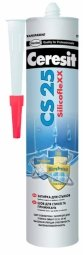 Затирка-герметик Ceresit СS 25 силиконовая с усиленным противогрибковым эффектом манхеттен(280мл)