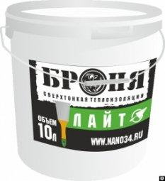 Жидкий утеплитель Броня Лайт сверхтонкая 10 л