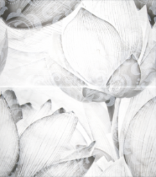 Панно Lasselsberger Каррарский мрамор цветы 45х50 (кмп 2 шт) 1609-0019