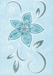 Декор La Favola Римини Цветы-2 бирюзовый 25х35