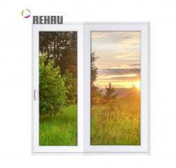Окно раздвижное Rehau 2100x2000 двухстворчатое ЛР800/ПГ1200 3 стеклопакет