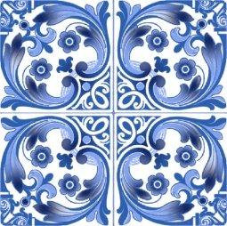 Плитка для стен Сокол Катарина KR2 орнамент полуматовая 22х22