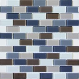 Мозаика Elada Crystal DM103 серо-бежевая 32.7x32.7