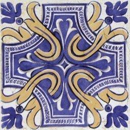 Вставка Сокол Майолика D709c орнамент матовая 16.5х16.5