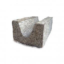 Блок Арболитовый 500х300х200 мм D650 B 2.5 U-образный