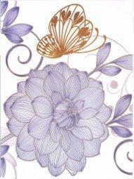 Декор Сокол Вальс цветов D679 орнамент глянцевый 33x44