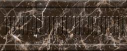 Бордюр Нефрит-керамика Пастораль 13-01-1-22-42-04-460-1 25x10 Чёрный