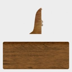 Заглушка торцевая правая (блистер 4 шт.) Т-пласт 022 Орех Кофейный