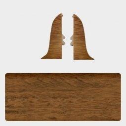 Заглушка торцевая левая и правая (блистер 2 шт.) Т-пласт 022 Орех Кофейный