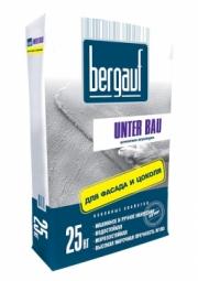 Штукатурка Bergauf Unter Bau цементная для фасада и цоколя 25 кг