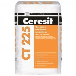 Шпатлевка Ceresit СТ225 фасадная финишная серая 25 кг