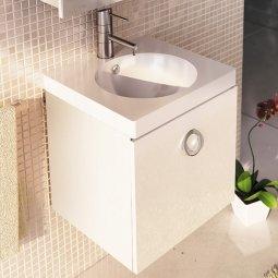 Тумба-умывальник Comforty Магнолия-50 белая с раковиной Ringo50 F01